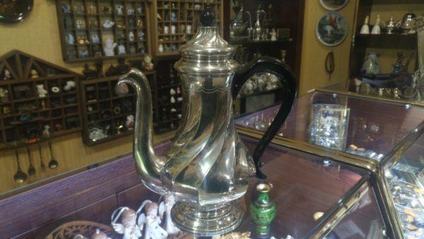 Серебряный кофейник, 800 проба, серебро, кофейник, антикварное серебро, французское серебро, для кофеманов