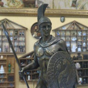 Бронзовая скульптура Воин