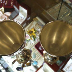 Серебряные рюмки с иудейской символикой