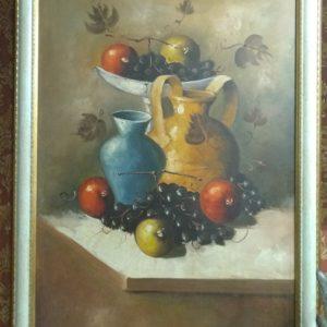 Картина маслом, натюрморт. Холст.