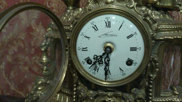 антиквариат. механические часы, продажа антиквариата, бронза, антикварные часы