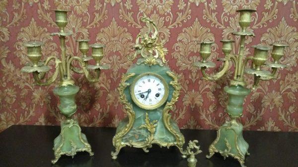 каминные часы из оникса, каминные часы с боем,антикварные каминные часы, интерьерные часы, антиквариат часы,