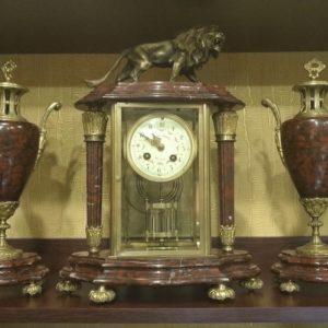Каминные часы с ртутным маятником Грэхема