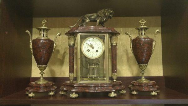 часы с ртутным маятником, каминные часы с боем,антикварные каминные часы, интерьерные часы, антиквариат часы, ртутные часы