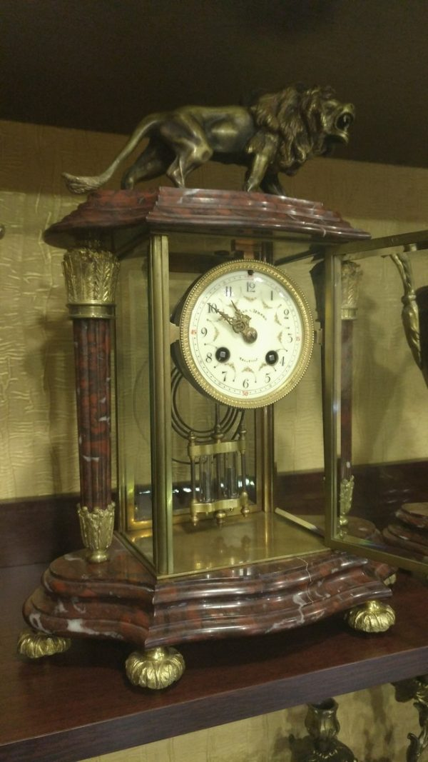 часы с ртутным маятником, каминные часы из бронзы, каминные часы с боем,антикварные каминные часы, интерьерные часы, антиквариат часы, ртутные часы