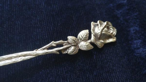 столовое серебро винница, серебряная ложка с розой, Хильдесхаймская роза, красивая ложка украина, подарок коллекционеру