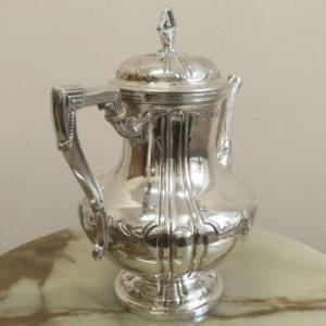 Антикварный серебряный кофейник, 800 проба