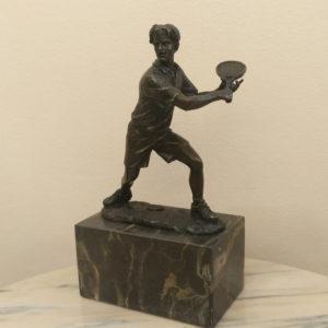 Бронзовая скульптура Теннисист