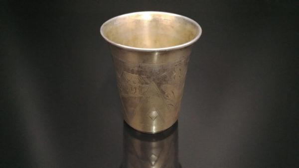 Иудаика. Кидушный стакан, 84 проба, именник. Царская Россия, еврейские традиции, что подарить еврею, кидушный стакан, серебро царская россия, антикварное серебро, подарок коллекционеру, купить антиквариат в украине