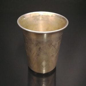 Иудаика. Кидушный стакан, 84 проба, именник. Царская Россия