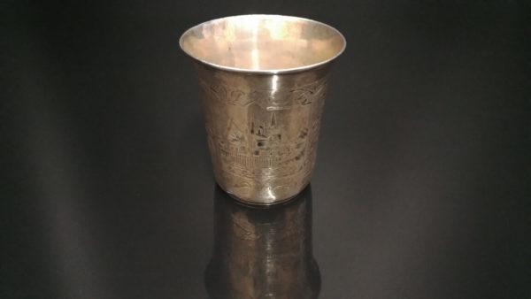 Иудейские традиции. Кидушный стакан, 84 проба. Царская Россия,еврейские традиции, что подарить еврею, кидушный стакан, серебро царская россия, антикварное серебро, подарок коллекционеру, купить антиквариат в украине