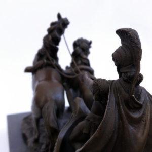 Бронзовая статуэтка Гладиатор на колеснице