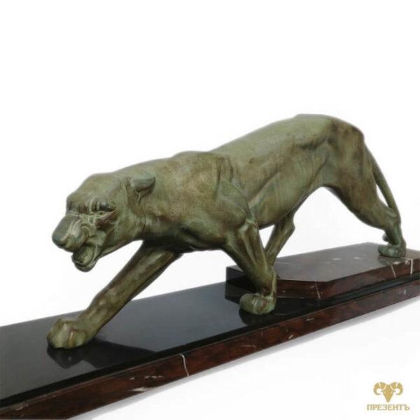 Скульптура Пантера. Шпиатр, антикварная статуэтка, антикварный магазин винница, купить подарок богатому человеку, что подарить богатому человеку, подарок коллекционеру