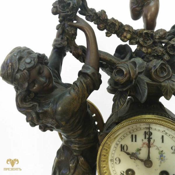магазин подарков винница, римская мифология, грации,часовой механизм, антикварные каминные часы, купить антиквариат в украине, французские старинные часы, скульптуры шпиатр, часы со скульптурами, грации