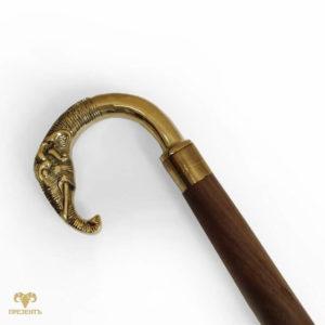 Подарочная декоративная трость с головой слона