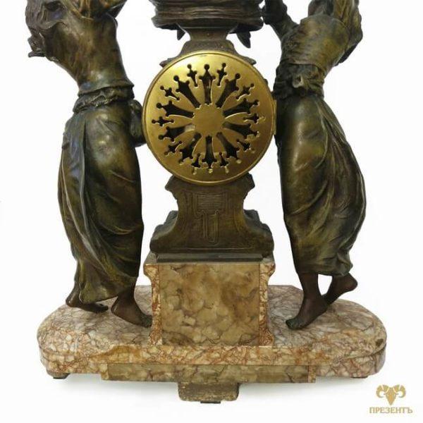 часовой механизм, антикварные каминные часы, купить антиквариат в украине, французские старинные часы, скульптуры шпиатр, часы со скульптурами