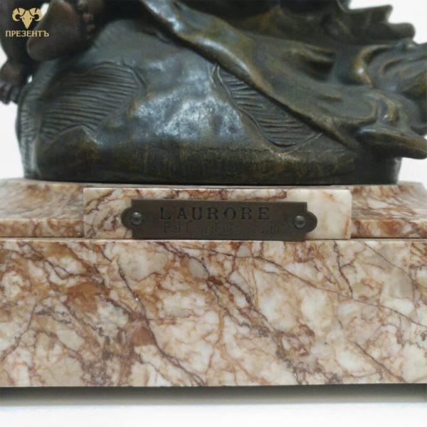 французский скульптор Leon Pilet, боогиня аврора и ангел, фигуры из шпиатра