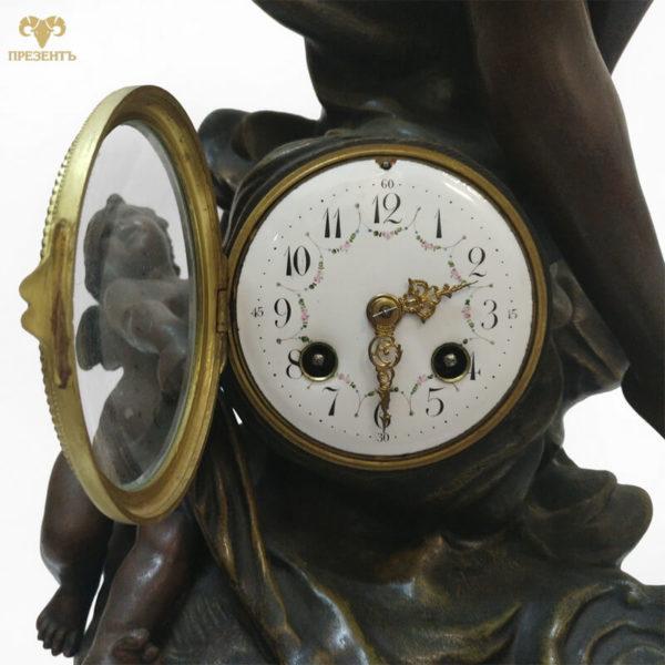 каминные часу купить в украине, каминные часы с боем, старинные часы, антикварные часы купить, часы со скульптурами, часы эмалевый циферблат