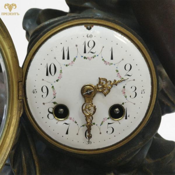 каминные часы эмалевый циферблат, купить элитный подарок в украине, чем удивить ценителя искусства, подарок коллекционеру часов, шикарный подарок бизнесмену