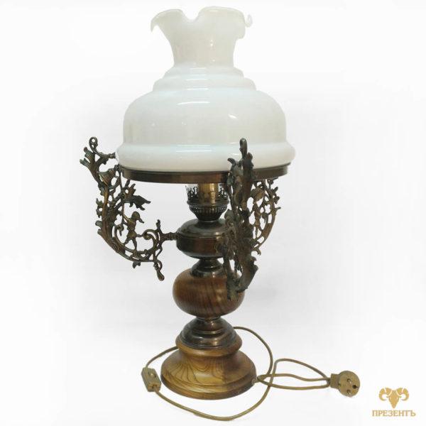Настольная электрическая лампа, светильник, винтажная лампа, подарок дизайнеру, свет в интерьере, уникальная лампа, чем украсит журнальный столик, лампа в спальню