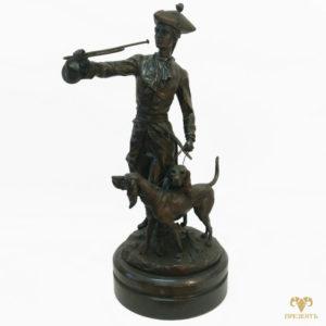 Величественная бронзовая скульптура На охоте