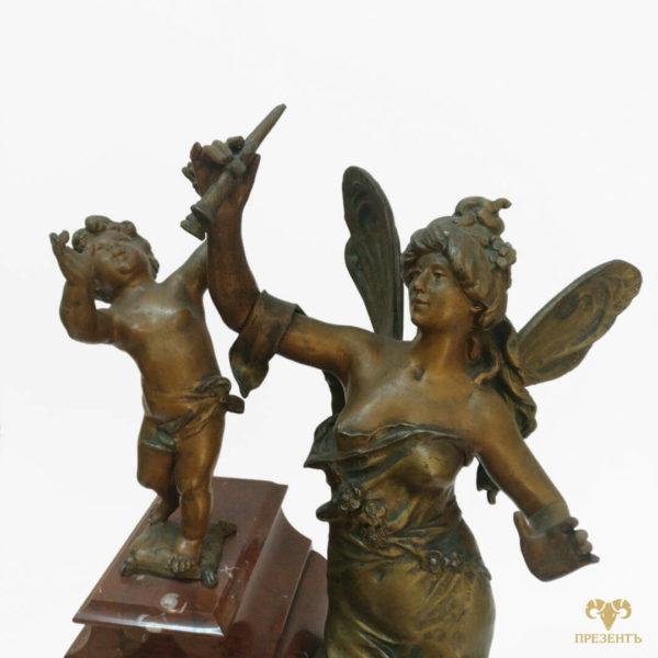 Скульптура Амура, скульптура Психея, Антикварные каминные часы, греческая мифология, Амур и Психея, купить элитный подарок купить антиквариат Украина