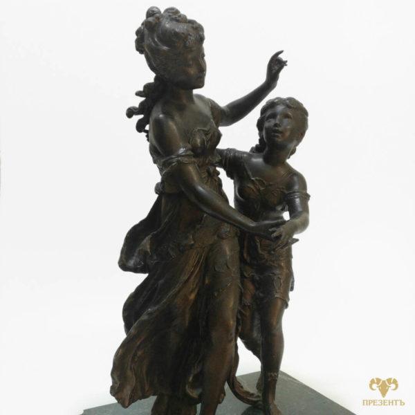 Антикварная шпиатровая статуэтка, подарок богатому человеку, что подарить сестре, подарок коллекционеру антиквариата