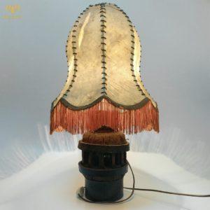 Настольная лампа, оригинальный торшер. Кожа