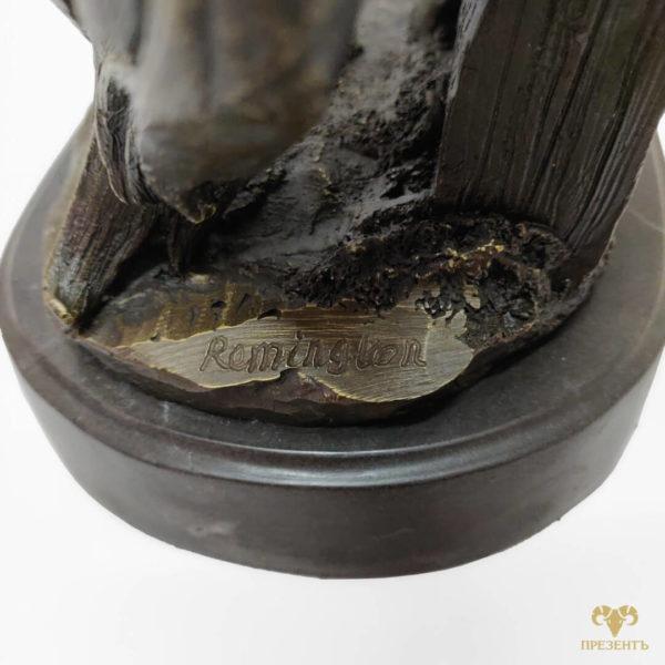 Бронзовая скульптура Лошадь на дыбах, бронзовая скульптура, изделия из бронзы, статуэтки из бронзы, статуэтки купить, Frederic Remington