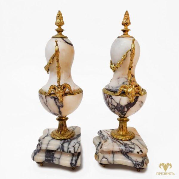 антикварные декоративные вазы, декоративные вазы на камин, декоративные амфоры на камин