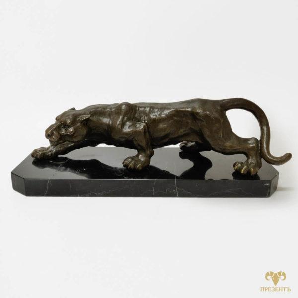 бронзовая пантера статуэтка, статуэтка гепард, статуэтка бронзовый котик