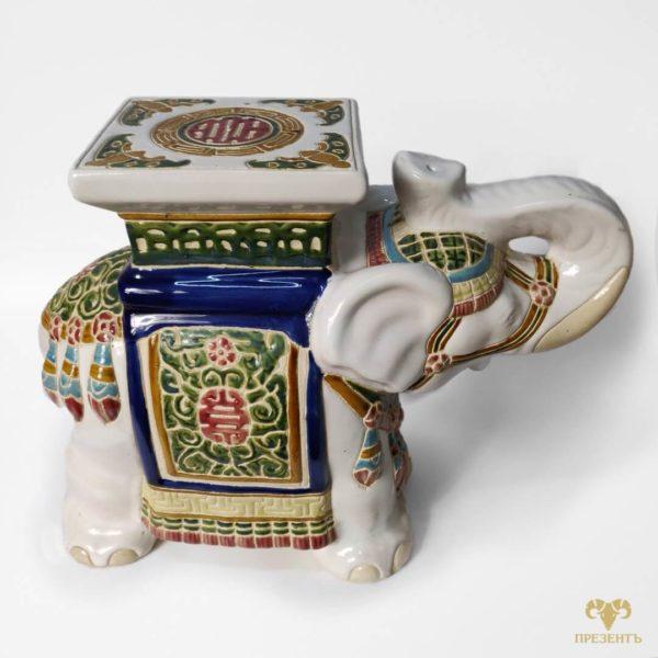 Подставка под цветы, подставка для цветов, подставка под вазон, керамический слон, керамическая подставка под вазон