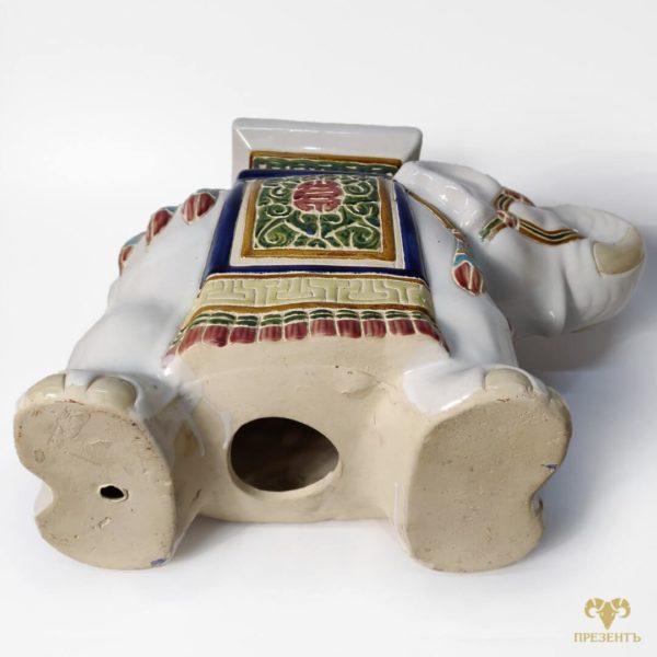 Подставка под цветы, подставка под вазон, керамический слон, керамическая подставка под вазон