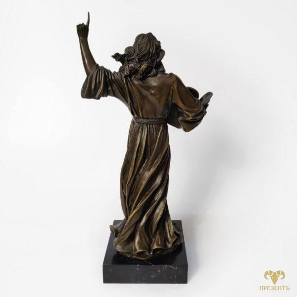 Бронзовая скульптура Моисей, антикварная бронза,статуэтки бронза, антиквариат купить, что подарить начальнику, подарок мужу