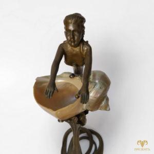"""Антикварная бронзовая статуэтка """"Амфитрита"""""""