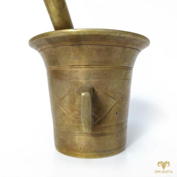 ступка с ручками, ступка для специй с ушками, ступка с пестиком бронза, ступка для специй, емкость для размалывания специй, антикварная ступка для специй, стариннач бронзовая ступка