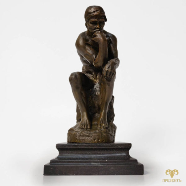 думающий человек скульптура, скульптура мудреца, мудрец скульптура, символически подарок взрослому мужчине, подарок со смыслом статусному мужчине