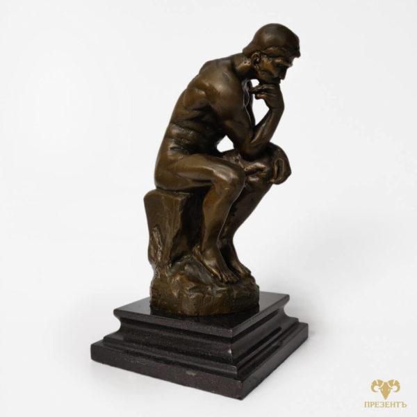 статуэтка мыслитель купить, скульптура мудрец купить, задумчивый мужчина скульптура, купить подарок для богатого мужчины, оригинальный подарок мужу депутату, подарок депутату, подарок чиновнику