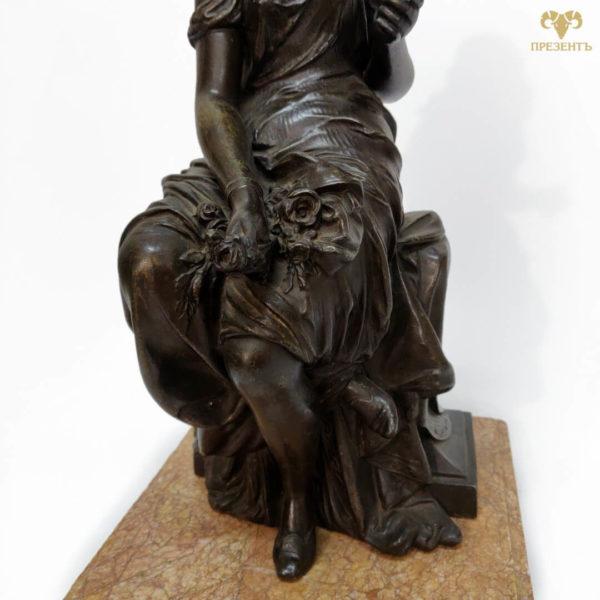 старинная статуэтка, антикварная статуэтка, скульптура девушки антиквариат, подарок скульптору, подарок хуложнику,