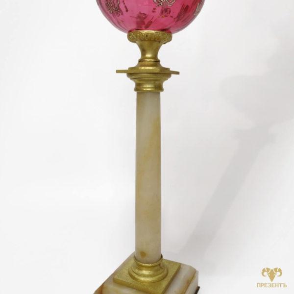 керосиновая лампа, антикварная настольная лампа, старинная лампа, купить антиквариат украина, статусный подарок, подарок на новоселье