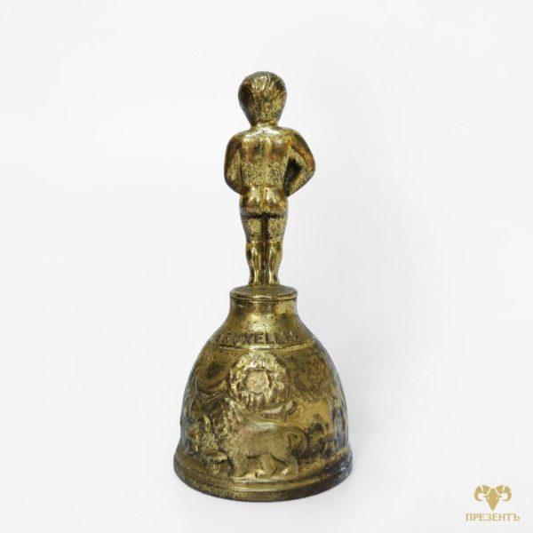 купити дзвінок бронзовий, купити дзвіночок бронза, писяючий хлопчик скульптура, сувенірний дзвоник купить київ