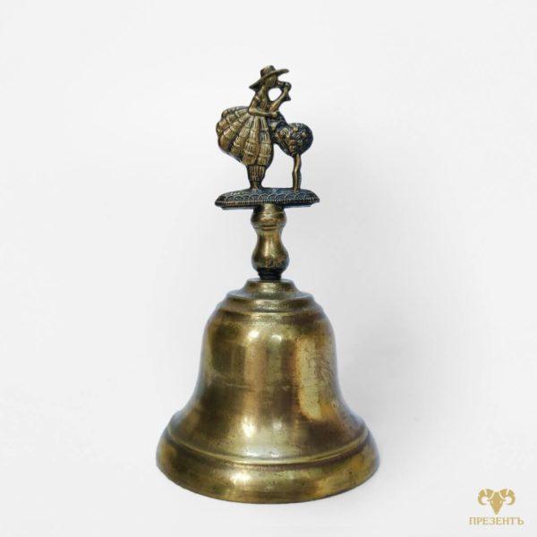 оригинальный бронзовый колокольчик, красивый колокольчик купить, подарок знак внимания, подарок коллекго по работе, подарок девушке на день рождение, необычный колокольчик купить