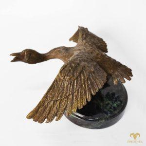 Пара бронзовых статуэток Два гуся