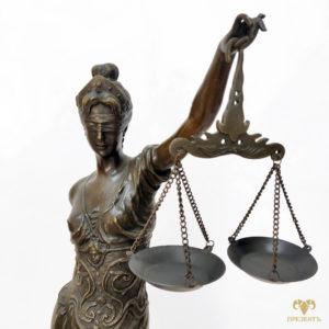 Метровая бронзовая скульптура Богиня правосудия Фемида