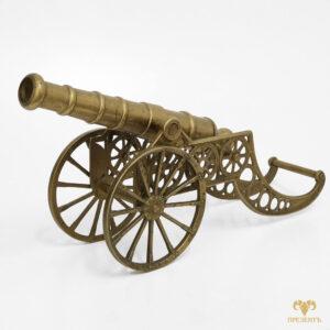 Бронзовая пушка артиллерийская сувенирная