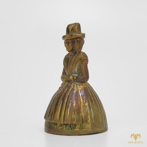 старинный колокольчик купить, колокольчик девушка купить, металлический колокольчик купить, колокольчик дама в платье, колокольчик дама в пышном платье,Lady Bells колокольчик