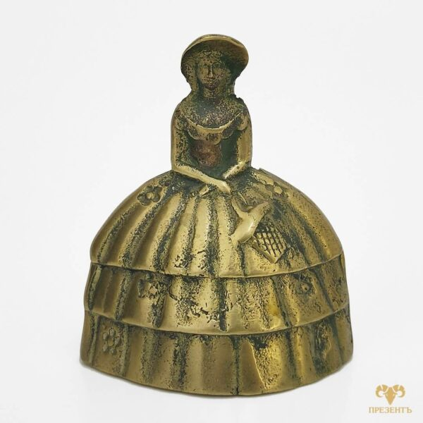 коллекция Lady Bells, бронзовый колокольчик, металлический колокольчик, колокольчик с дамой,колокольчик с девушкой, оригинальный подарок жене, оригинальный подарок ресторатору, подарок владельцу гостиницы,
