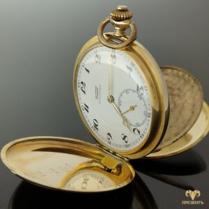 Антикварные золотые карманные часы Tissot antimagnetic