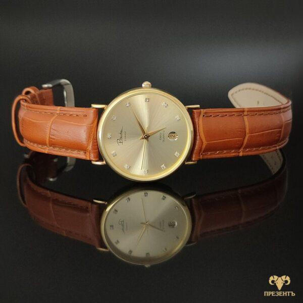 Золотой хронометр, часы с кварцевым механизмом, семейная реликвия, наручные часы золото 585 проба, наручные часы в золотом корпусе, оригинальные мужские часы, брендовые золотые часы,